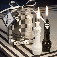 Wholesale quot King amp Queen Chess Piece Candle Favors which be used as wedding favor Pairs