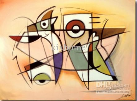 cheap oil painting modern art best one panel handpainted clay ceramic art - Decorative Painting