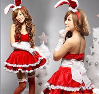 Wholesale Sexy women s lingeries cute rabbit suit cosplay uniform high quality for Christmas And Hallowmas