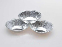Wholesale New Mini Round Egg Tart Basins Cake Cases Cupcake Bakeware Aluminium Foil