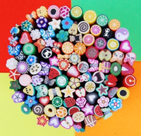 Wholesale 3D nail art Stickers cane fruit and flower Cutted canes polymer clay Polymer clay strip Soft slice