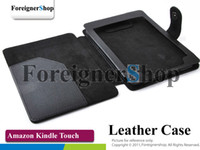 Wholesale For Amazon Kindle Touch G Wifi Ebook Reader PU Leather Case Cover Pouch Wallet Skin
