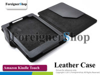Wholesale 100 For Amazon Kindle Touch Ebook Reader PU Leather Case Cover Pouch Wallet Skin