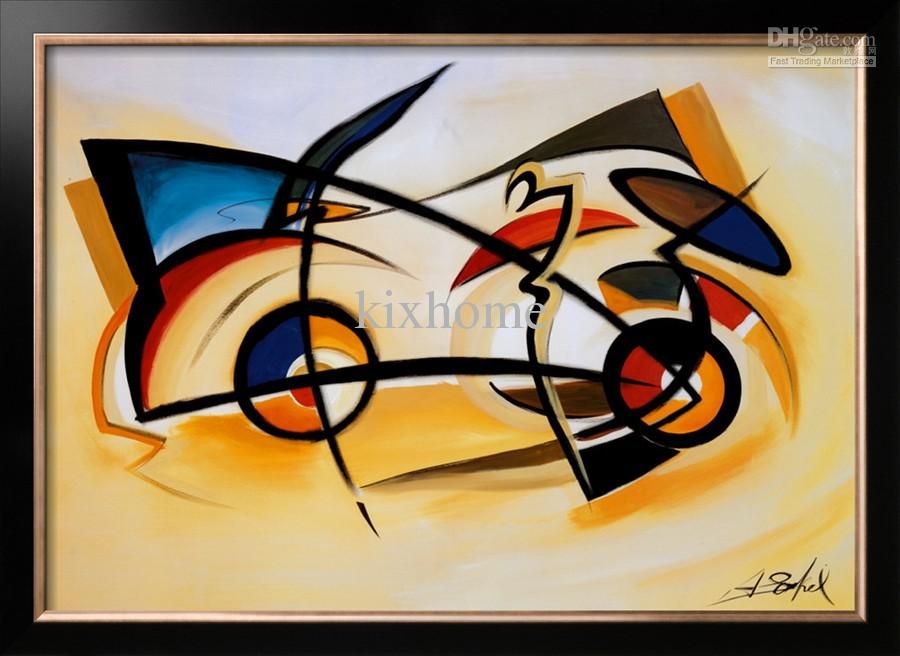 Oil Painting Abstract,Home Decor Canvas,Perpetual Motion By Alfred