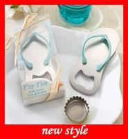 Wholesale Cute Wedding Favor Flip Flop Bottle Opener Slipper Shoes Bottle Opener for Sandy beach Theme Wedding