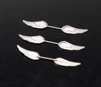 Wholesale Angel Wings Nipple Piercing Jewelry Nipple Rings L Stainless Steel NPR21