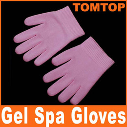 Wholesale Pink Moisturize Soften Repair Glove Whiten Skin Moisturizing Treatment Gel Spa Gloves H4821