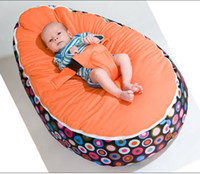 Wholesale Baby Beanbags Sofa Chairs Round Seat Sleeping Bed Portable Washable Suede Short Plush Mix