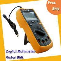 Wholesale Digital Multimeter VICTOR B Digital LCD AC DC Resistance Celsius Fahrenheit Multimer