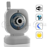 Wholesale hoem security Wired Wireless IP Security Camera with Nightvision and iPhone Support