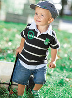 18-24 Months baby jeans outfits - 2016 Summer Baby Boy Clothing Set Boys Outfit Baby Suit T shirt Jeans Short sleeve Sets Boys Wear