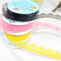 Wholesale waterproof Lace Trim Fabric ADHESIVE Tape Stick DIY Scrapbooking supplies