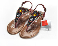 Wholesale 2012 summer ladies shoes Bohemia pinch flat sandals Yellow red coffee