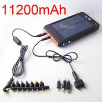 Wholesale 11200mAh Solar AC input Battery Charger for Laptop Notebook Mobile Phone PSP GPS MP3
