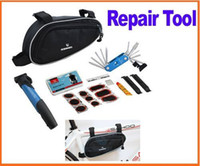 Wholesale New Arrive in Cycling Bicycle accessories Bike Repair tool Tools Kit Set with Pouch amp Pump