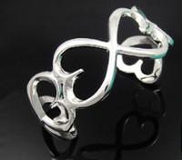 Wholesale silver bangle women s silver bangle classic silver heart bangles bracelet mix order