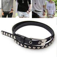Standard beautiful belt - Beautiful New Fashion Cross Buckle Waistband PU Leather Thin Belt colors