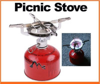 Wholesale Portable Stainless Steel Camping Stove Picnic Stove Cookout Burner Cookware