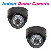 Wholesale TVL Sharp CCD Indoor IR CCTV Security Camera Kit mm Lens LUX Black