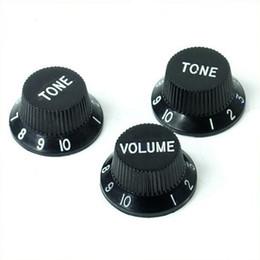 Black Guitars Strat Knob 1-volumen de 2 botones de control de tono para Fender Stratocaster desde perillas guitarra fender fabricantes
