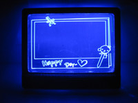 Wholesale Small Blue LED Light Message Text Writing Drawing Board Display for home kids