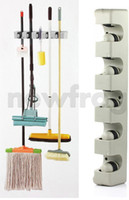 Wholesale Plastic Wall Mounted Position Kitchen Storage Mop Broom Organizer Holder Tool