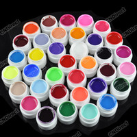 Wholesale UV Gel Nail Art New Pots Cover Pure Different Colors UV Gel for UV Nail Art Tips Agood