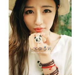 Cheio de cristais panda anel de dedo muito linda#6061