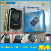 Digital scale   digital weighing scale hanging scale electronic portable vendor fishing hook scale 40kg 10g capacity