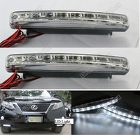 Wholesale New X Car LED DRL Driving Lamp Daytime Running Day LED Light Head Lamp Super White