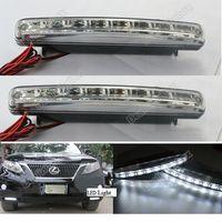 8 LED Fog/DRL Light 0 New 2X Car 8 LED DRL Driving Lamp Daytime Running Day LED Light Head Lamp Super White #2657