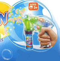 Wholesale HOT Latest colorful flash large transparent electric automatic music bubble gun