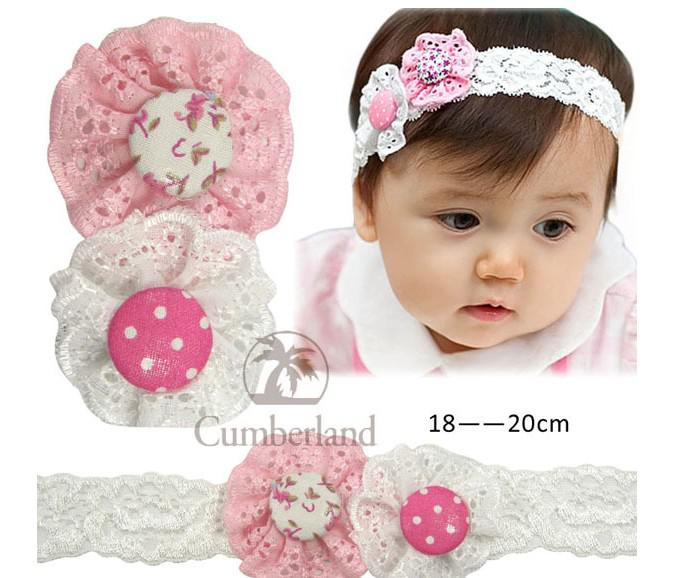 New Baby Headband Baby Hair Accessories Baby Girls Cute Lace Hairbands