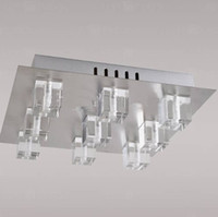Energy Saving   The K9 the Crystal Flush Mount with 9 lights in the Square family chandelier