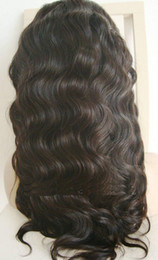 Wholesale 14 inches Body Wave Peruvian Virgin Human Hair Full Lace Wigs
