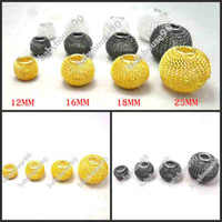 Wholesale Hot MM Good Mesh Beads colors Mixed Metal Loose Beads Fit Basketball Wives Earrings Bead