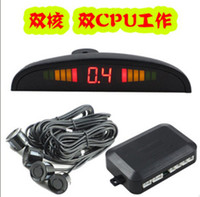 Wholesale Retail Car Parking LED Display silver black Sensor Reverse Alarm Rear Radar