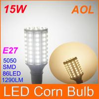 Яркий 1290LM E27 86 светодиодов 5050 SMD LED Винт лампочка мозоли 110-220В лампы белого / теплый белый 15W