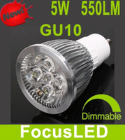 Wholesale Cool White K GU10 Led Light Bulbs Lamp V V Dimmable W LM Beam Angle Led Lights