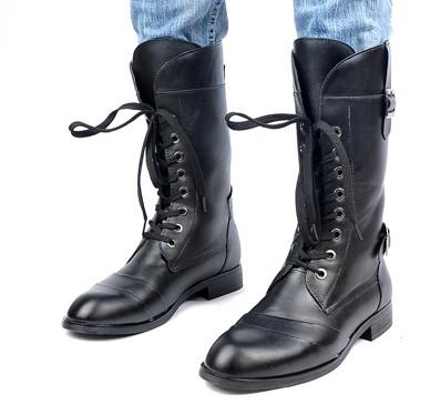Mens Knee High Lace Up Leather Boots | Santa Barbara Institute for ...