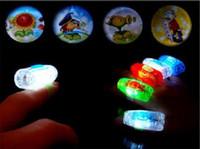 al por mayor zombi de la historieta-La mini película del dedo de la proyección de la historieta de la lámpara del dedo de los zombis PVZ del envío libre enciende los juguetes creativos