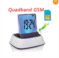 Wholesale Quandband GSM Voice Activated Device SIM Card Spy Ear Bug colorful Alarm Clock