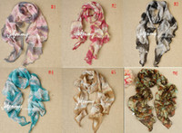 Wholesale 2012 Hot Selling Fashion colors Women s Print Headscarf Belt Long cm Silk Scarf indxpy
