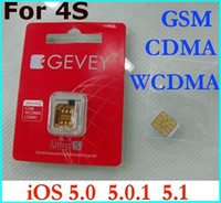 Wholesale HOT Gevey Ultra S SIM Unlock Card for CDMA WCDMA GSM iOS baseband