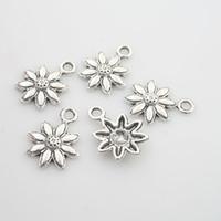 Wholesale 40pcs Tibetan Silver sunflower charm pendants X0010