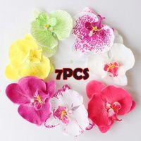 Wholesale 7pcs quot colors Fabric Orchid Flower Hair Clip Bridal Wedding Hawaii Party
