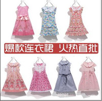 Wholesale New Dresses Korean children s clothing burst models cotton colorful dress