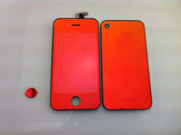 Wholesale For Iphone G GSM Platin Mirror Shell Digitizer LCD Screen Glass Screen Back Gold Pink Blue Purple