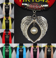 Charm scarf necklace - women s pendant Scarf jewelry necklace Soft scarves elegant Jewellery Mix Colors green scarf HK1842