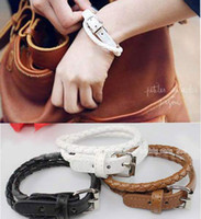 Wholesale 10PCS Korean Style Leather Double Wrap Belt Bracelet New